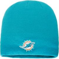 Miami Dolphins NFL Pro Line by Fanatics Branded Core Uncuffed Knit Beanie - Aqua - OSFA
