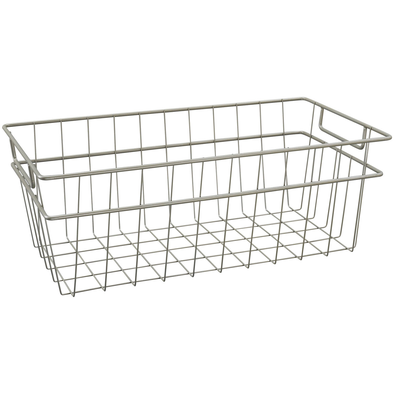 ClosetMaid Wire Basket, Large, Nickel