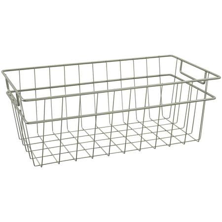 ClosetMaid Wire Basket, Large, Nickel ()