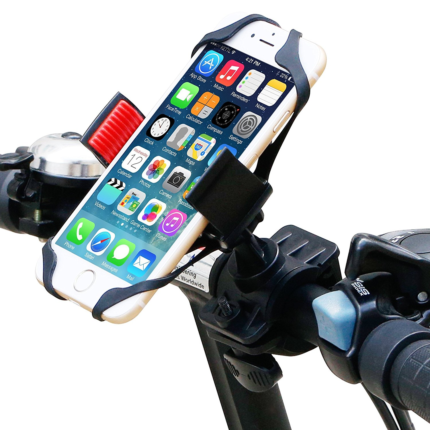 huge selection of acc3b 217e0 Bike Mount, Ipow Universal Cell Phone Bicycle Handlebar & Motorcycle Holder  Cradle for iPhone 6 6(+) 6S 6S plus 5S 5C 4S, Samsung Galaxy S5 S4 S3 Note  ...