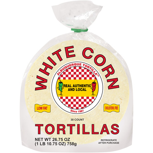 Albuquerque Tortilla White Corn Tortillas, 30ct