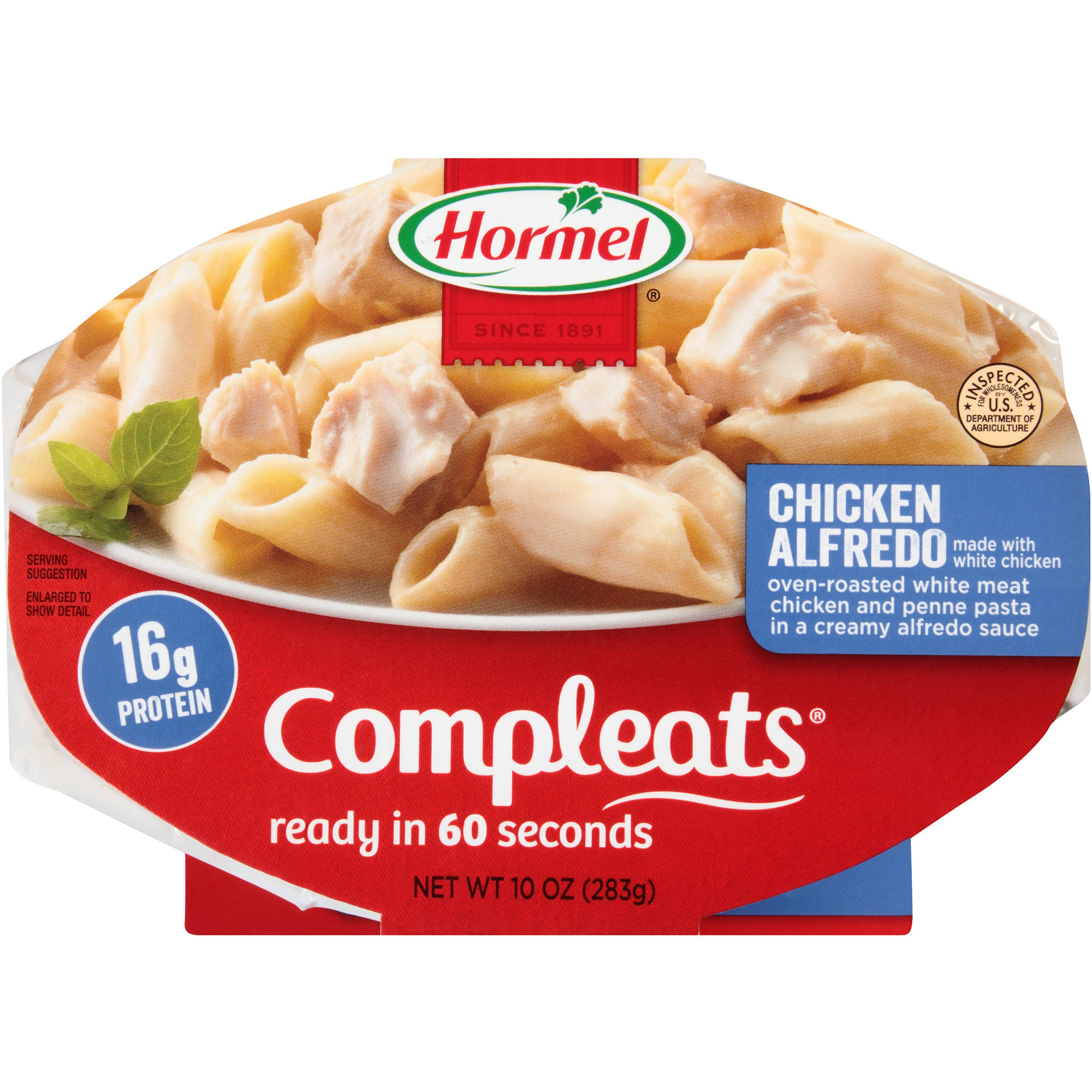 Hormel Chicken Alfredo w/Penne Pasta Compleats Microwave Bowls, 10 oz