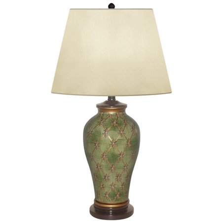 - JB Hirsch Home Decor Garden Trelis Hand Painted Porcelain 27'' Table Lamp