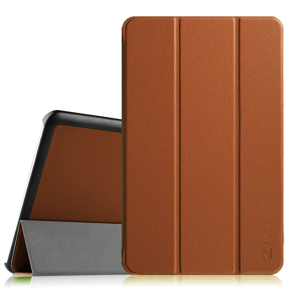 Samsung Galaxy Tab E 9.6 / Tab E Nook 9.6 Inch Tablet Case - Fintie Ultra Slim Lightweight Stand Cover, Brown
