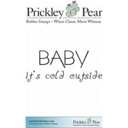 Prickley Pear Cling Stamps 2.25 Inch X 2 Inch-Baby Its Cold Outsid