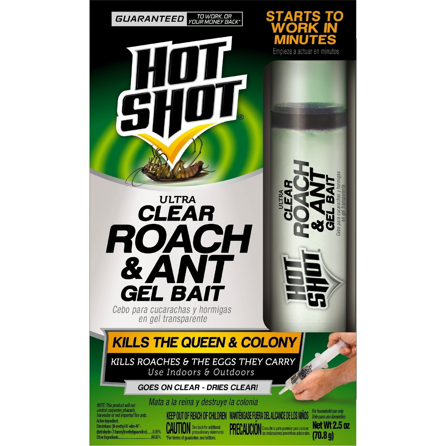 Hot Shot Ultra Clear Roach and Ant Gel Bait, 2.5 ounces