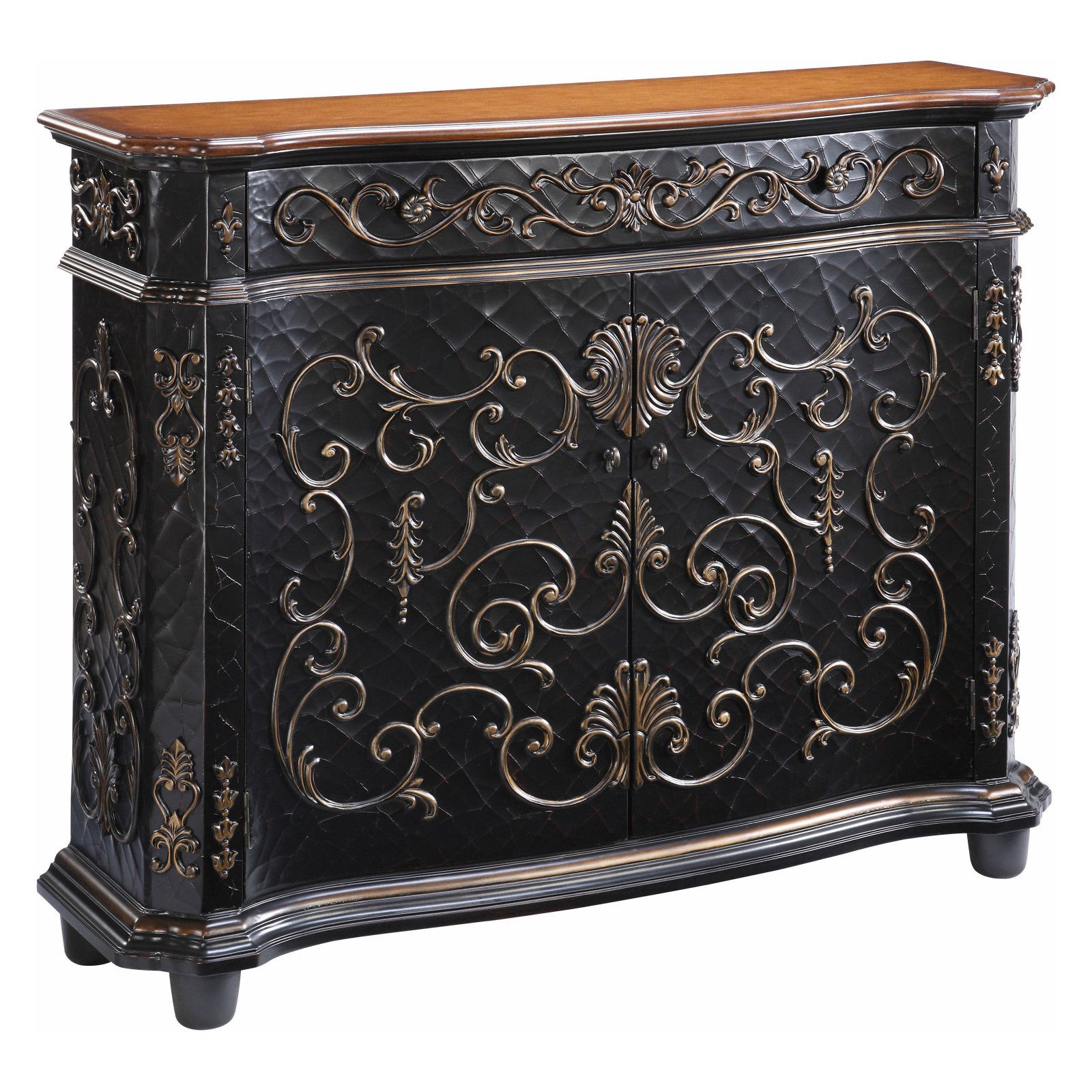 Gail Accents Chambery Crackle Gilded Sideboard