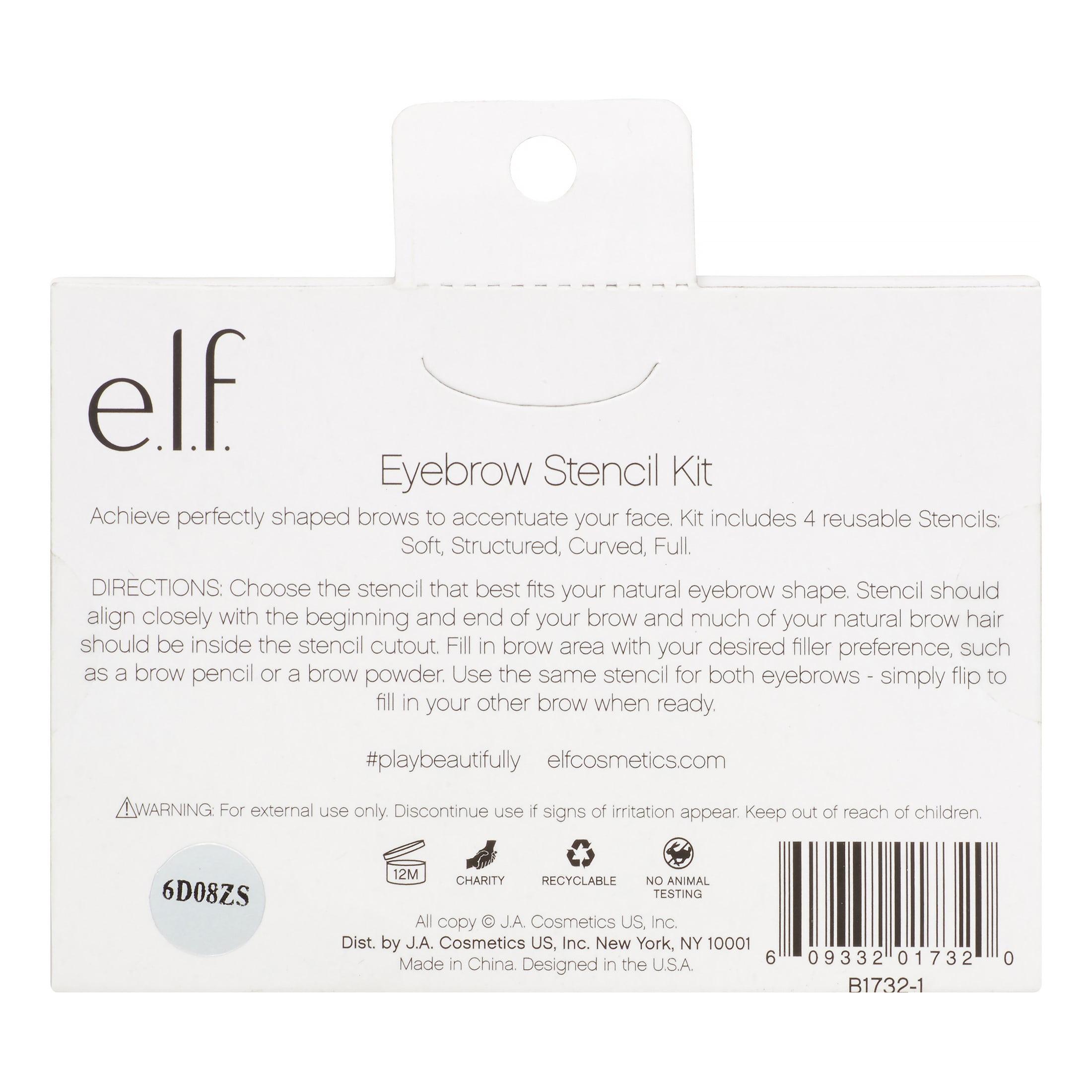Elf Eyebrow Perfect Stencil Kit 4 Piece Walmart