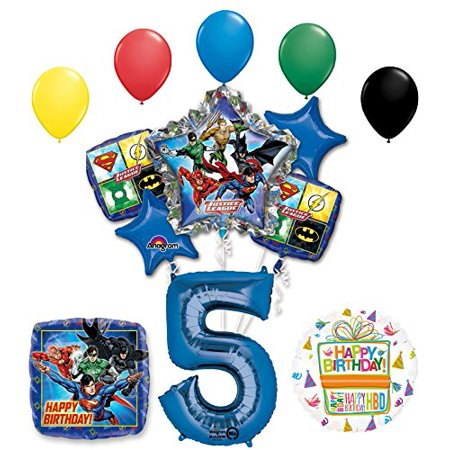 The Ultimate Justice League Superhero 5th Birthday Party Supplies - Super Hero Supplies