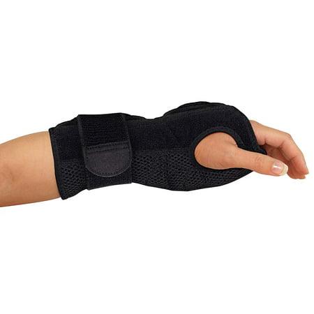 Mueller Sports Medicine Night Support Wrist Brace, Black, One Size Fits Most Usa Short Wrist Support