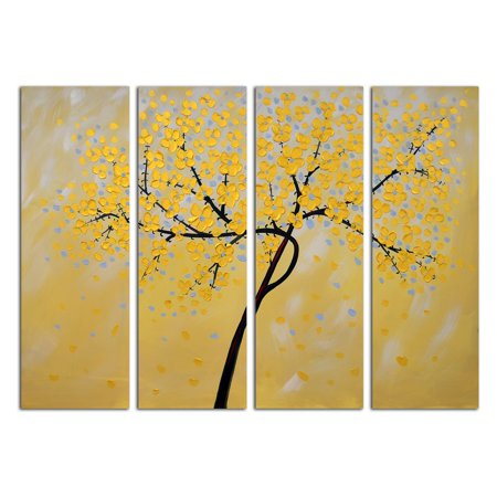 OMAX Decor Petals Wall Art - Set of 4