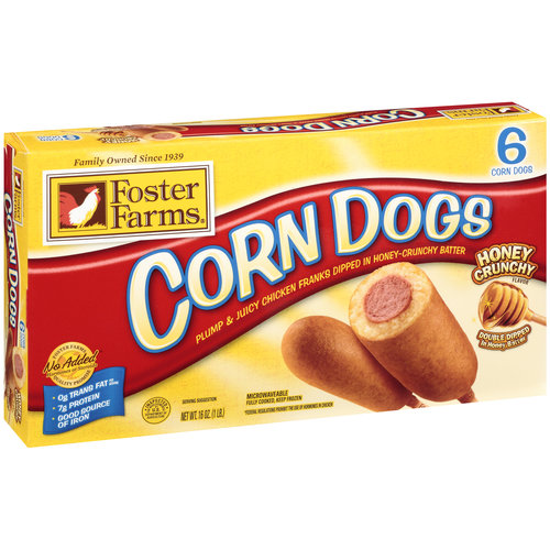 Foster Farms Honey Crunchy Flavor Corn Dogs, 6ct