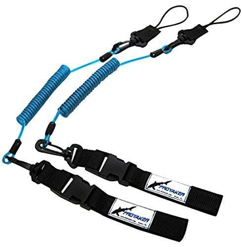PROYAKER Ocean Tough Kayak Accessories Set of 2 Universal Paddle   Fishing Rod Leash By Proyaker by PROYAKER® Ocean Tough Kayak Fishing Accessories