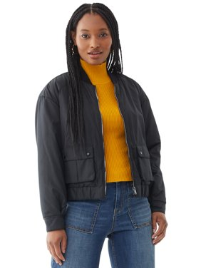 Scoop Womens Utility Bomber Jacket
