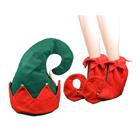 Christmas Felt Elf Hat & Elf Shoes Fits Most Adults Great For Christmas Parties - Elf Hats For Kids