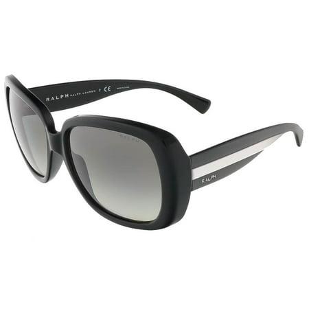 Ralph Lauren Ra5166 80811 Black Rectangle Sunglasses by Ralph Lauren