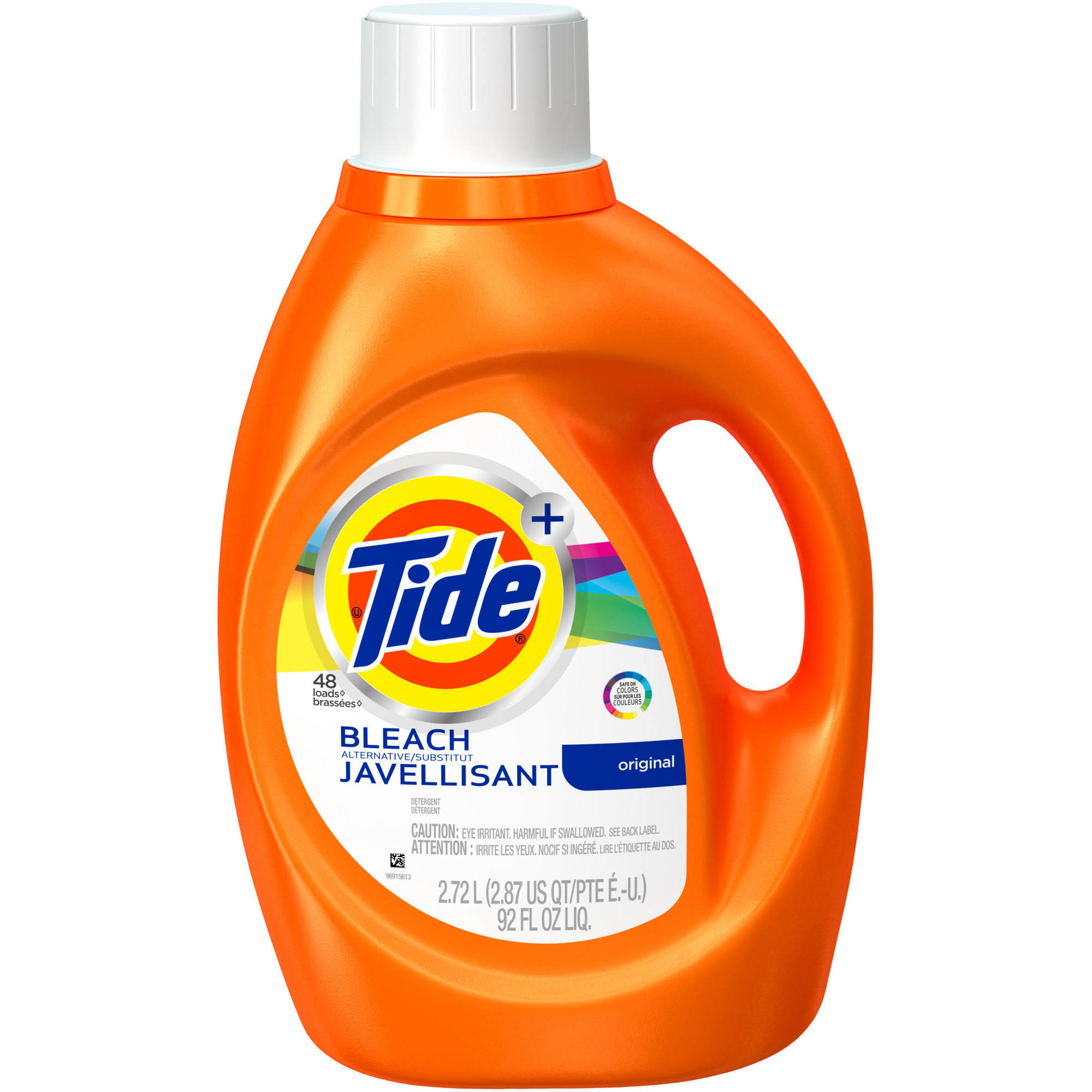 Tide Plus Bleach Alternative Original Scent Liquid Laundry Detergent, 92 oz, 48 loads