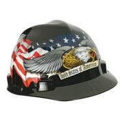 MSA 10079479 Front Brim Hard Hat, Type 1, Class E, Ratchet (4-Point), Black