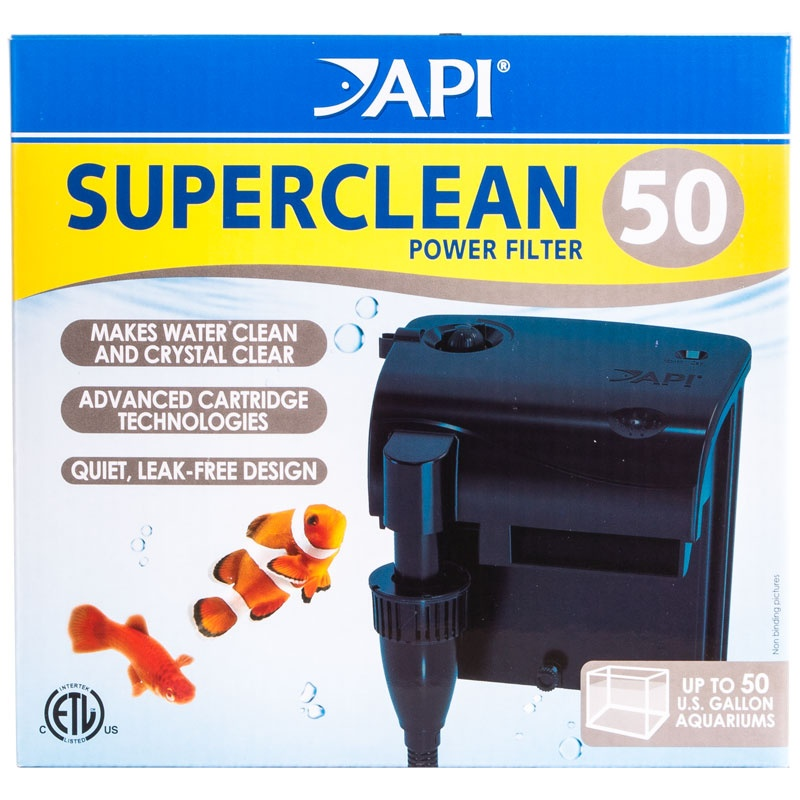 API Superclean Power Filter - SuperClean 50 - (For Tanks up to 50 Gallons)