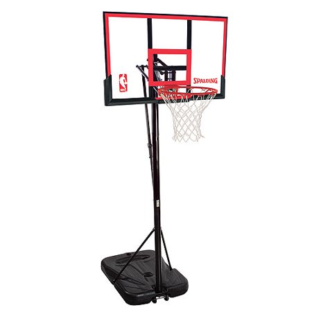Spalding 72354 Residential Portable Basketball System With 48  Polycarbonate Backboard