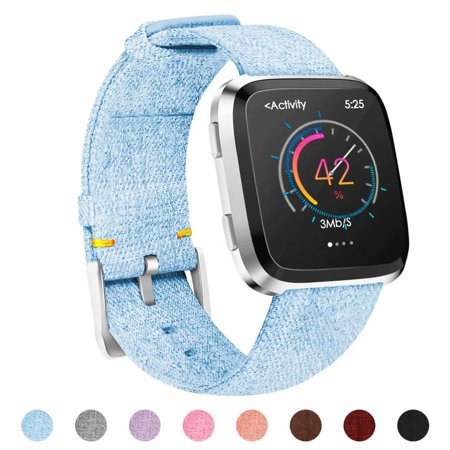 POY For Fitbit Versa Bands for Women Men, Woven Fabric Wrist Strap Adjustable Replacement Bands for Fitbit Versa Fitness Smart