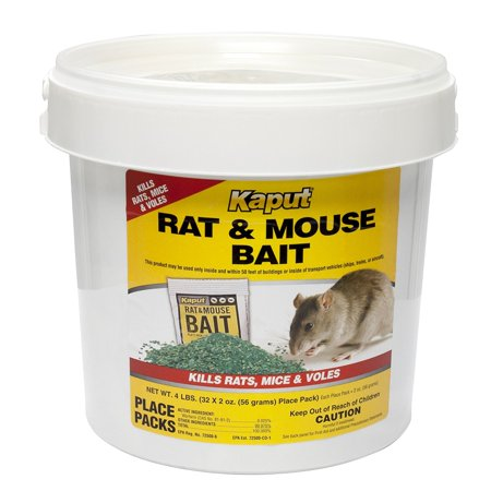 Rat Mouse Vole Bait - 32 Place Packs 61305, For best performance, remove other food sources from the area. By