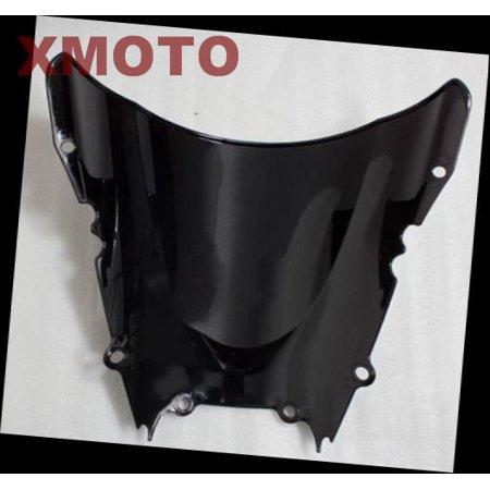 HTT Motorcycle Dark Smoke Windscreen Windshield For Yamaha Yzf R6 1998-2002 1999 2000 2001 2002 (Motorcycle Windshield For Yamaha)