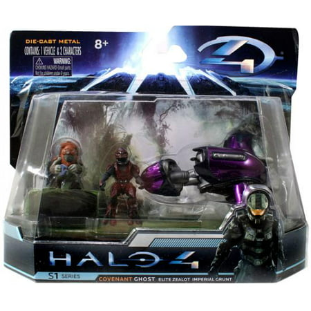 Halo S-1 Series Ghost with Elite Zealot & Imperial Grunt Diecast