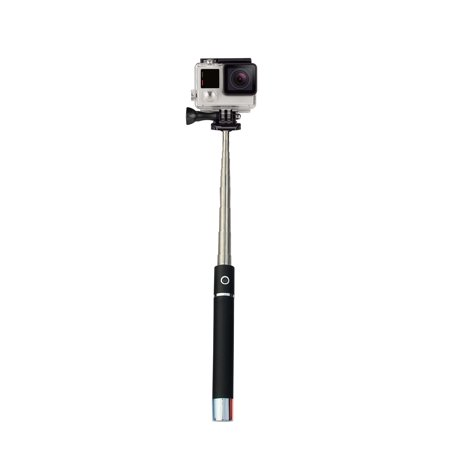 wireless bluetooth selfie stick with built in portable charger. Black Bedroom Furniture Sets. Home Design Ideas