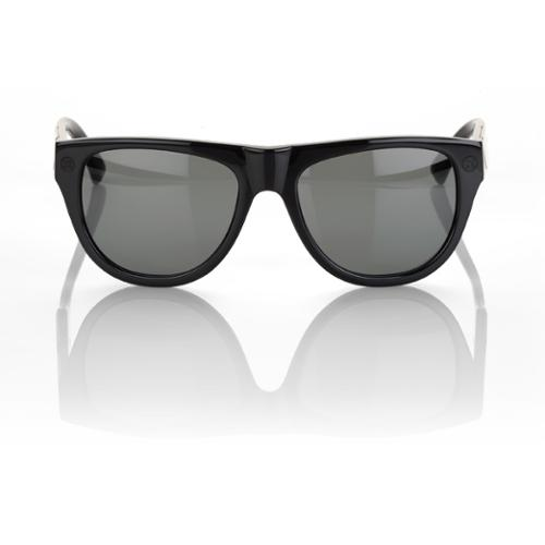 100% Higgins Sunglasses Gloss Black - Gray Lens