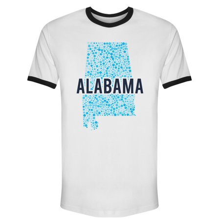 UPC 780519314033 product image for Alabama Dotted Map Ri Tee Men's -Image by Shutterstock | upcitemdb.com