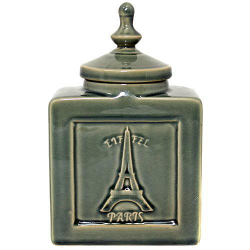 EC World Imports Urban Eiffel Paris Decorative Jar by ecWorld