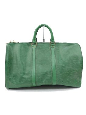 e540d989a51 Product Image Duffle Keepall Borneo 45 870130 Green Leather Weekend Travel  Bag. Louis Vuitton