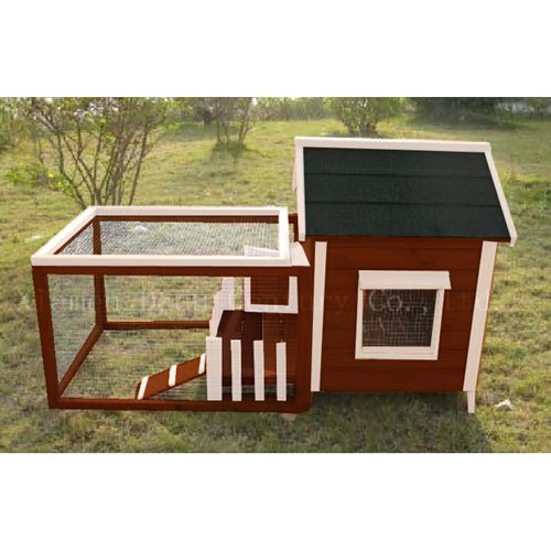 Advantek White Picket Fence Rabbit Hutch by Advantek Marketing