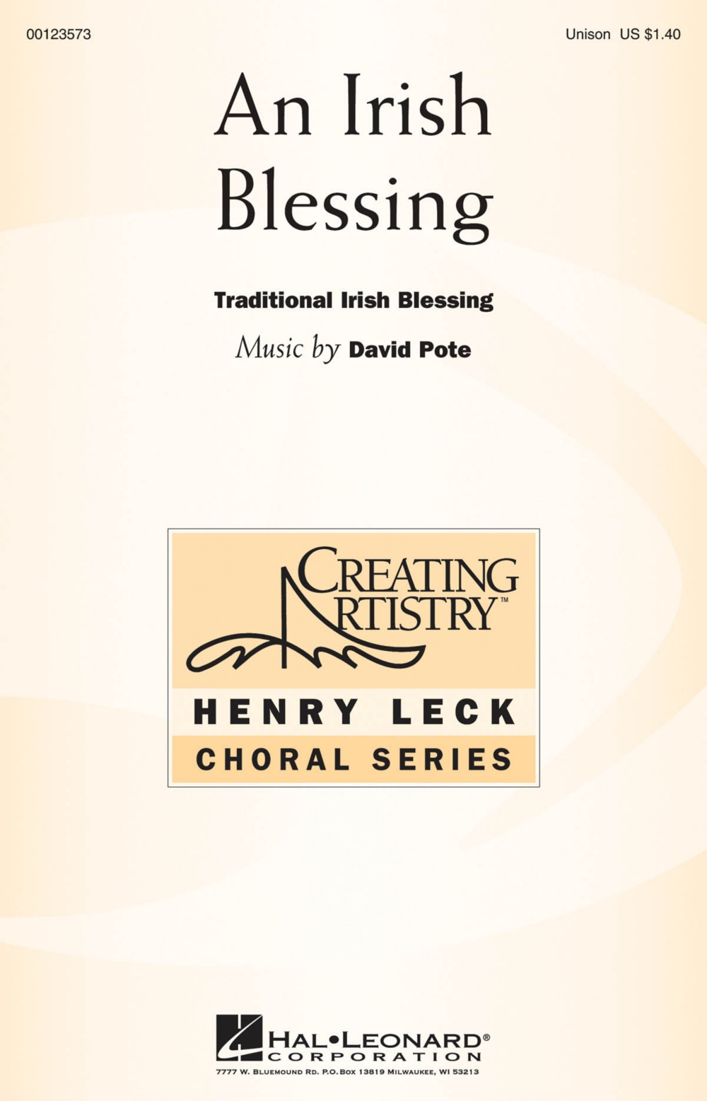 Hal Leonard An Irish Blessing UNIS composed by David Pote by Hal Leonard
