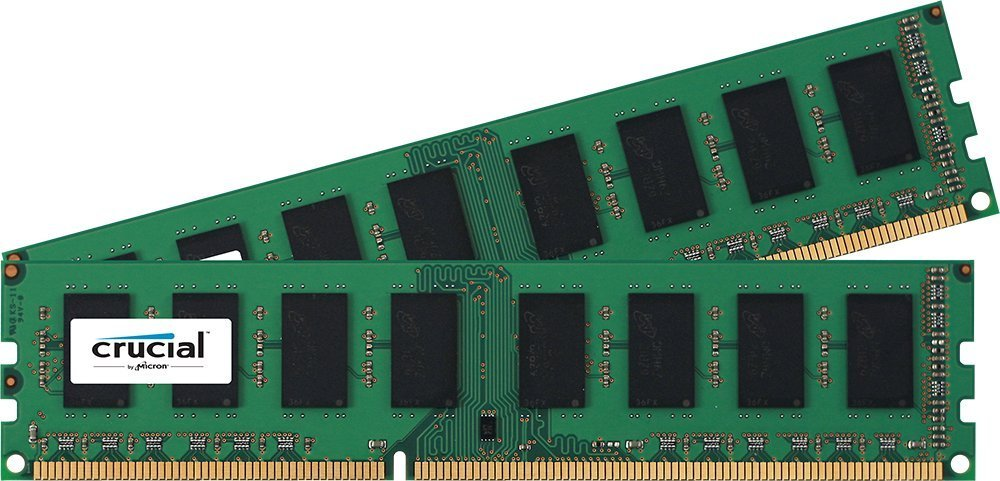 Crucial 8GB (2x4GB) DDR3L 1600 MHz 1.35V Non-ECC Unbuffered 240-pin DIMM Memory