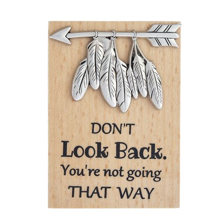 Sticky Back Magnets - Ganz ER62293 DON'T Look Back You're not going THAT WAY Magnet Plaque