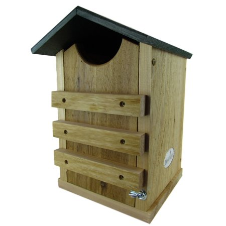 Screech Owl or Saw-Whet Owl House Cedar Nesting Box with Poly Lumber Roof, JCs Wildlife Free (Owl House)