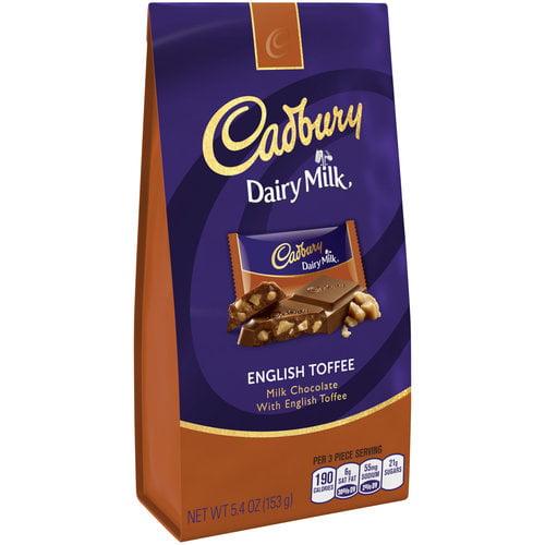 Cadbury Dairy Milk English Toffee Milk Chocolate, 5.4 oz by Hershey Company
