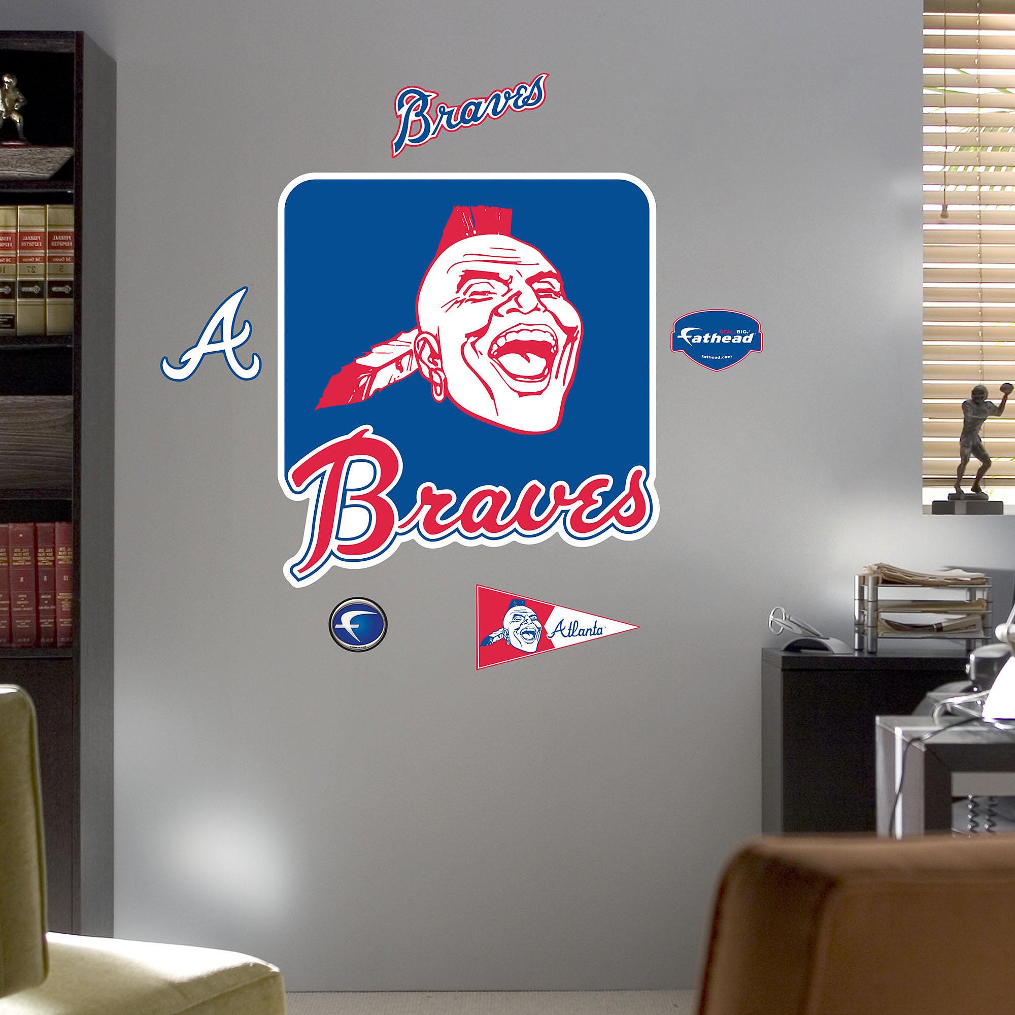 Fathead Atlanta Braves Throwback Logo