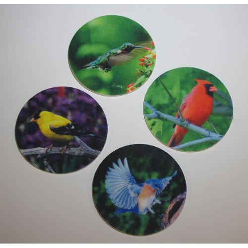 Metrotex Designs 4 Piece Songbird Design Coaster Set