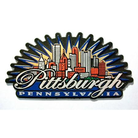 - Pittsburgh Pennsylvania Sunburst Fridge Magnet