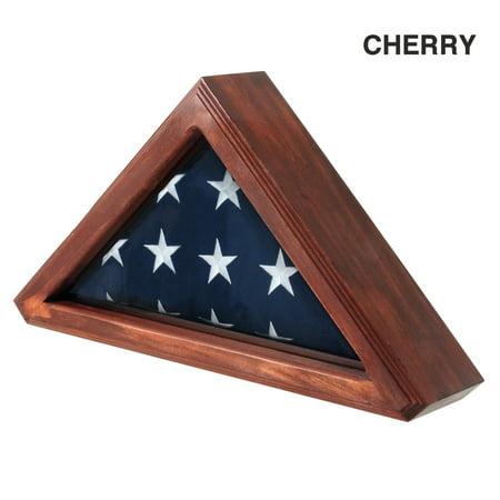 Senators Flag Display Case for 3ft x 5ft Flag - Cherry