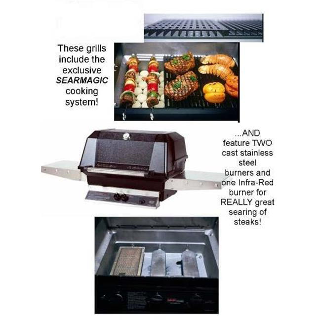 Modern Home Products WHRG4DDNS MHP Natural Gas Grill SearMagic Grids Two Cast Stainless Steel and One... by Modern Home Products