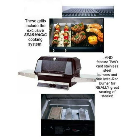Modern Home Products WHRG4DDNS MHP Natural Gas Grill Searmagic Grids Two Cast Stainless Steel and One Infra-Red Burner