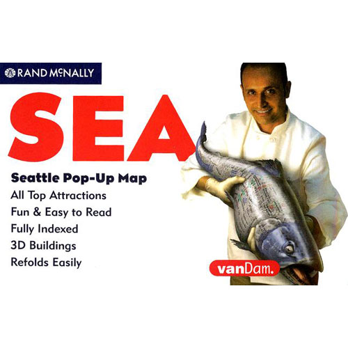Rand McNally Seattle Pop-Up Map - Folded Map