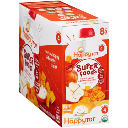 Happy Tot Super Foods Organic Apples   Butternut Squash   8 Ct