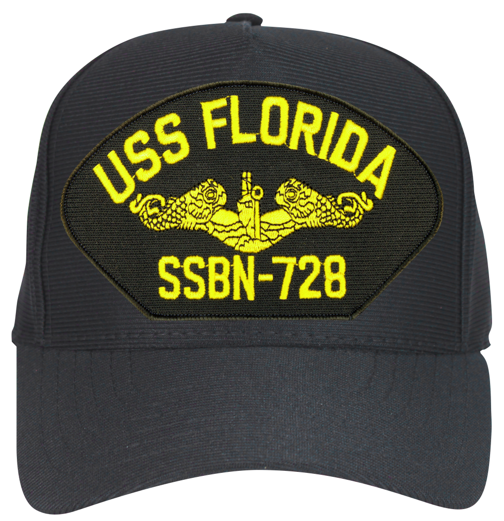 USS Florida SSBN-728 ( Gold Dolphins ) Submarine Officers Cap