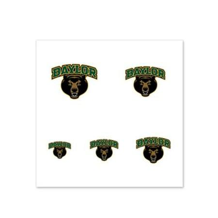 Baylor Bears Fingernail Tattoos - 4 Pack - Bear Paw Print Tattoo
