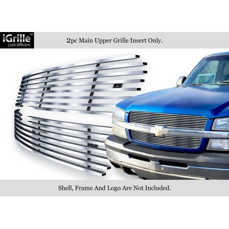 304 Stainless Steel Billet Grille Fits 2003-05 Chevy Silverado 1500/ 03-04 2500 Chevrolet Silverado Stainless Steel Billet